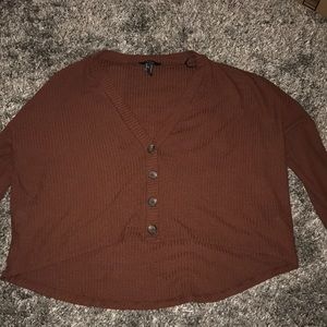 Forever 21 cropped long sleeved shirt
